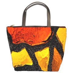 Colorful Glass Mosaic Art And Abstract Wall Background Bucket Bags
