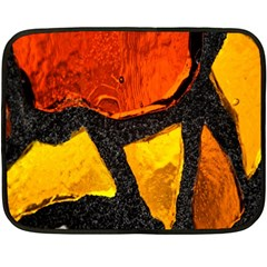 Colorful Glass Mosaic Art And Abstract Wall Background Fleece Blanket (Mini)