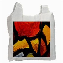 Colorful Glass Mosaic Art And Abstract Wall Background Recycle Bag (One Side)