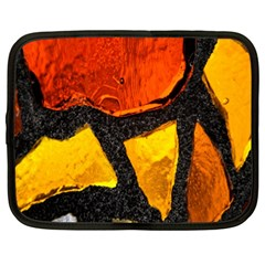 Colorful Glass Mosaic Art And Abstract Wall Background Netbook Case (xl)
