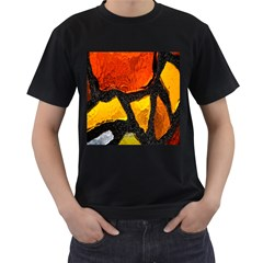 Colorful Glass Mosaic Art And Abstract Wall Background Men s T Shirt (black)