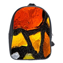 Colorful Glass Mosaic Art And Abstract Wall Background School Bags(large)