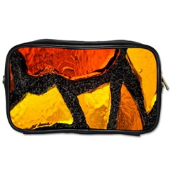 Colorful Glass Mosaic Art And Abstract Wall Background Toiletries Bags