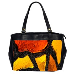 Colorful Glass Mosaic Art And Abstract Wall Background Office Handbags (2 Sides)