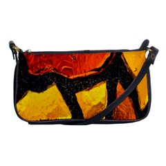 Colorful Glass Mosaic Art And Abstract Wall Background Shoulder Clutch Bags