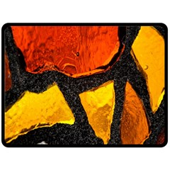 Colorful Glass Mosaic Art And Abstract Wall Background Fleece Blanket (Large)