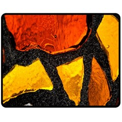 Colorful Glass Mosaic Art And Abstract Wall Background Fleece Blanket (Medium)