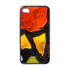 Colorful Glass Mosaic Art And Abstract Wall Background Apple iPhone 4 Case (Black)