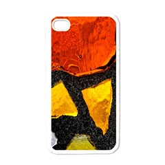 Colorful Glass Mosaic Art And Abstract Wall Background Apple Iphone 4 Case (white)