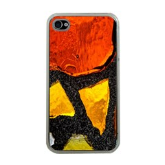 Colorful Glass Mosaic Art And Abstract Wall Background Apple Iphone 4 Case (clear)