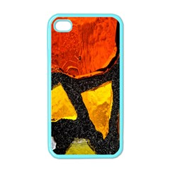 Colorful Glass Mosaic Art And Abstract Wall Background Apple iPhone 4 Case (Color)