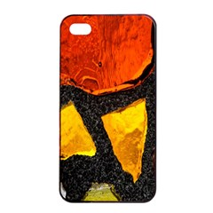 Colorful Glass Mosaic Art And Abstract Wall Background Apple Iphone 4/4s Seamless Case (black)