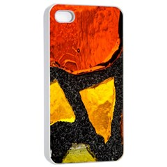 Colorful Glass Mosaic Art And Abstract Wall Background Apple Iphone 4/4s Seamless Case (white)