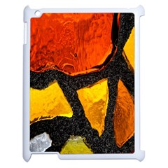 Colorful Glass Mosaic Art And Abstract Wall Background Apple iPad 2 Case (White)
