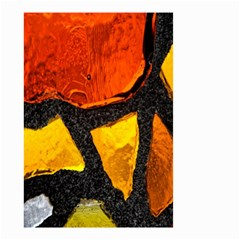 Colorful Glass Mosaic Art And Abstract Wall Background Small Garden Flag (Two Sides)