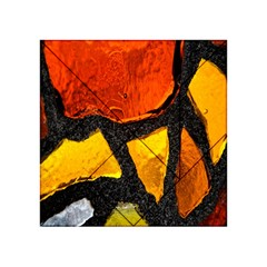 Colorful Glass Mosaic Art And Abstract Wall Background Acrylic Tangram Puzzle (4  X 4 )