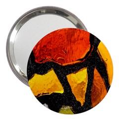 Colorful Glass Mosaic Art And Abstract Wall Background 3  Handbag Mirrors
