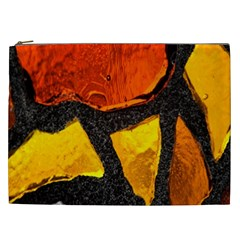 Colorful Glass Mosaic Art And Abstract Wall Background Cosmetic Bag (xxl)