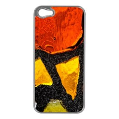 Colorful Glass Mosaic Art And Abstract Wall Background Apple Iphone 5 Case (silver)