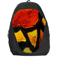 Colorful Glass Mosaic Art And Abstract Wall Background Backpack Bag
