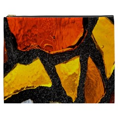 Colorful Glass Mosaic Art And Abstract Wall Background Cosmetic Bag (XXXL)