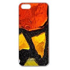 Colorful Glass Mosaic Art And Abstract Wall Background Apple Seamless iPhone 5 Case (Clear)