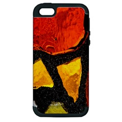 Colorful Glass Mosaic Art And Abstract Wall Background Apple iPhone 5 Hardshell Case (PC+Silicone)