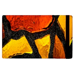 Colorful Glass Mosaic Art And Abstract Wall Background Apple Ipad 2 Flip Case