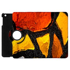 Colorful Glass Mosaic Art And Abstract Wall Background Apple Ipad Mini Flip 360 Case