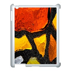 Colorful Glass Mosaic Art And Abstract Wall Background Apple Ipad 3/4 Case (white)