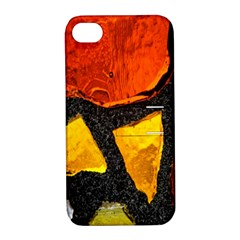 Colorful Glass Mosaic Art And Abstract Wall Background Apple Iphone 4/4s Hardshell Case With Stand