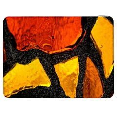 Colorful Glass Mosaic Art And Abstract Wall Background Samsung Galaxy Tab 7  P1000 Flip Case