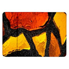 Colorful Glass Mosaic Art And Abstract Wall Background Samsung Galaxy Tab 8.9  P7300 Flip Case