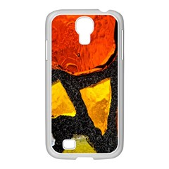 Colorful Glass Mosaic Art And Abstract Wall Background Samsung Galaxy S4 I9500/ I9505 Case (white)