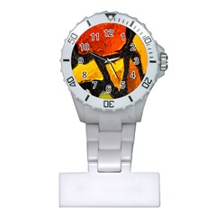 Colorful Glass Mosaic Art And Abstract Wall Background Plastic Nurses Watch