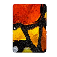 Colorful Glass Mosaic Art And Abstract Wall Background Samsung Galaxy Tab 2 (10 1 ) P5100 Hardshell Case
