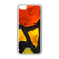 Colorful Glass Mosaic Art And Abstract Wall Background Apple Iphone 5c Seamless Case (white)
