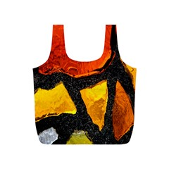 Colorful Glass Mosaic Art And Abstract Wall Background Full Print Recycle Bags (S)