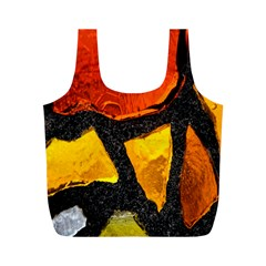 Colorful Glass Mosaic Art And Abstract Wall Background Full Print Recycle Bags (m)