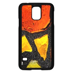 Colorful Glass Mosaic Art And Abstract Wall Background Samsung Galaxy S5 Case (black)