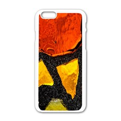 Colorful Glass Mosaic Art And Abstract Wall Background Apple Iphone 6/6s White Enamel Case