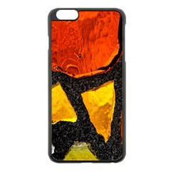 Colorful Glass Mosaic Art And Abstract Wall Background Apple Iphone 6 Plus/6s Plus Black Enamel Case