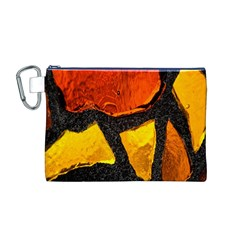 Colorful Glass Mosaic Art And Abstract Wall Background Canvas Cosmetic Bag (M)