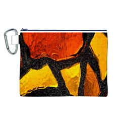 Colorful Glass Mosaic Art And Abstract Wall Background Canvas Cosmetic Bag (l)