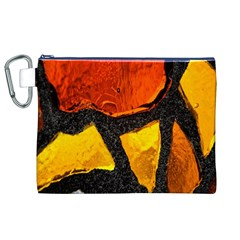 Colorful Glass Mosaic Art And Abstract Wall Background Canvas Cosmetic Bag (xl)