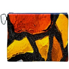 Colorful Glass Mosaic Art And Abstract Wall Background Canvas Cosmetic Bag (xxxl)
