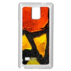 Colorful Glass Mosaic Art And Abstract Wall Background Samsung Galaxy Note 4 Case (White)