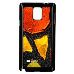 Colorful Glass Mosaic Art And Abstract Wall Background Samsung Galaxy Note 4 Case (Black)
