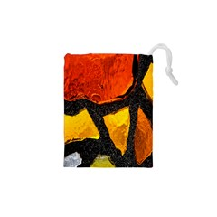 Colorful Glass Mosaic Art And Abstract Wall Background Drawstring Pouches (xs)
