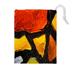 Colorful Glass Mosaic Art And Abstract Wall Background Drawstring Pouches (extra Large)